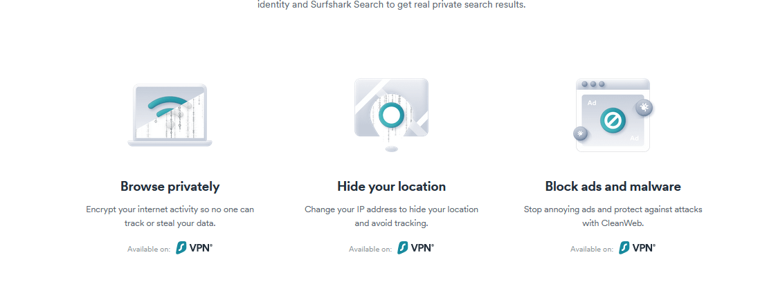 Surfshark privacy and security